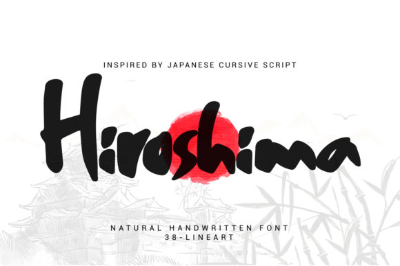 Print on Demand: Hiroshima Script & Handwritten Font By 38.lineart