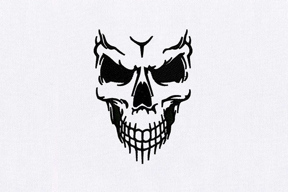 Download Free Human Skull Face Creative Fabrica for Cricut Explore, Silhouette and other cutting machines.