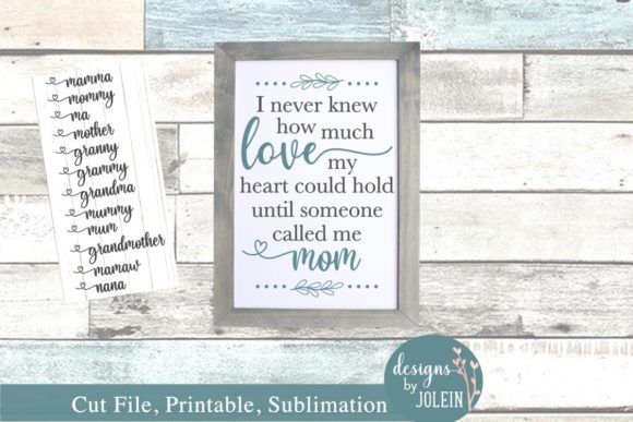 Download Free I Never Knew How Much Love My Heart Could Hold Graphic By Designs By Jolein Creative Fabrica for Cricut Explore, Silhouette and other cutting machines.