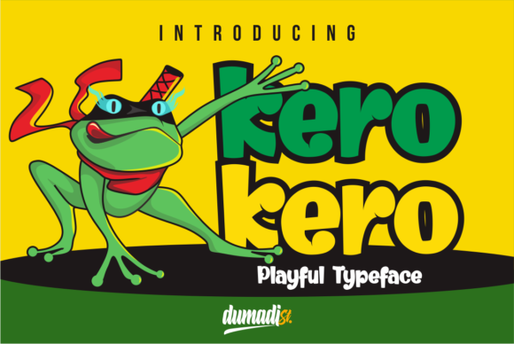 Print on Demand: Kero Kero Display Font By DUMADI