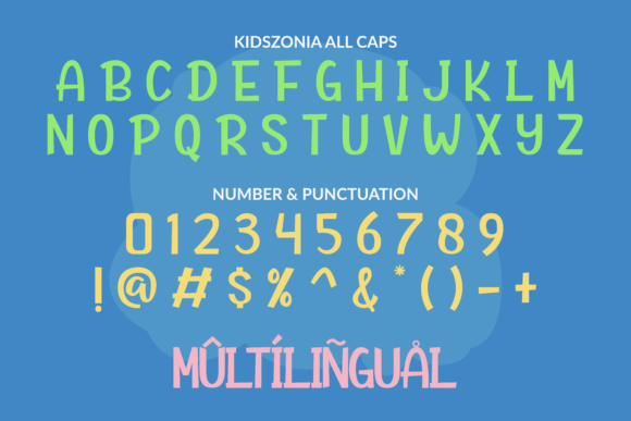 Print on Demand: Kidszonia Display Font By ahweproject - Image 2
