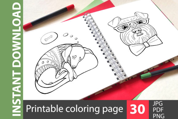 Liked Dogs - Big Coloring Book Graphic Coloring Pages & Books Kids By NataliMyaStore