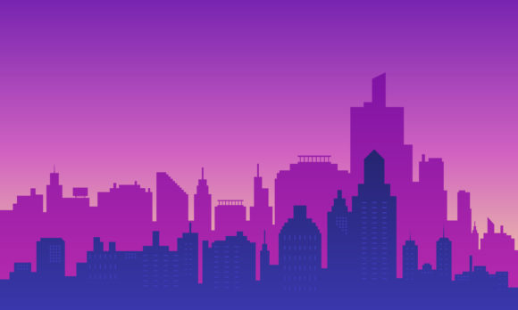 Download Free Modern City Building In The Night Graphic By Cityvector91 for Cricut Explore, Silhouette and other cutting machines.