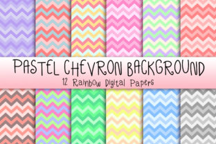 Print on Demand: Pastel Chevron Background Graphic Textures By PinkPearly