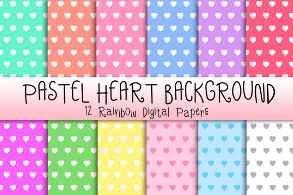 Download Free Pastel Heart Background Graphic By Pinkpearly Creative Fabrica for Cricut Explore, Silhouette and other cutting machines.