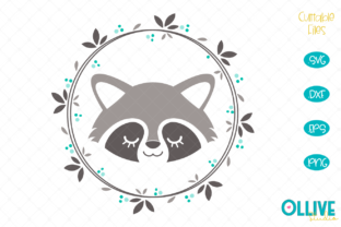 Download Free Raccoon Wreath Raccoon Cut File Graphic By Ollivestudio for Cricut Explore, Silhouette and other cutting machines.
