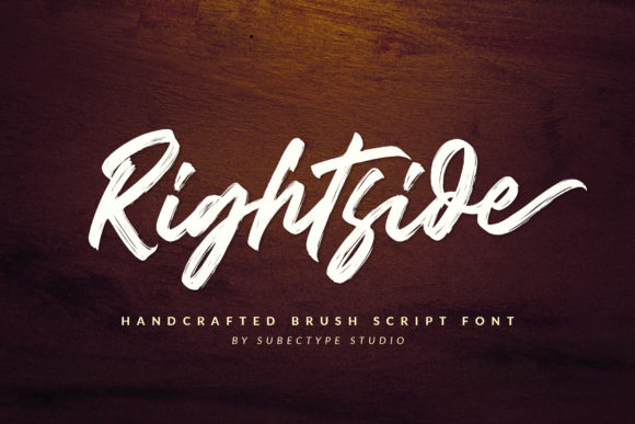 Print on Demand: Rightside Script & Handwritten Font By Subectype