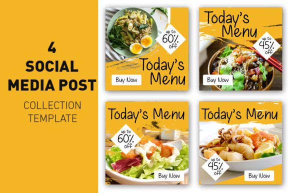 Social Media Post Food and Culinary Graphic Web Templates By rizsl.grandokz