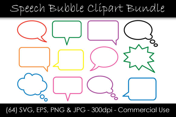 Download Free Speech Bubble Clipart Outline Graphic By Gjsart Creative Fabrica for Cricut Explore, Silhouette and other cutting machines.