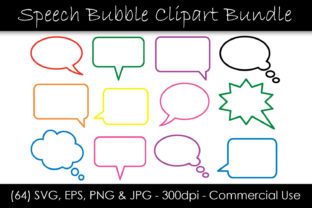 Speech Bubble Clipart - Outline Graphic Objects By GJSArt