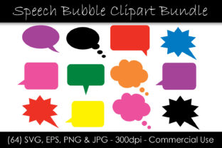 Speech Bubble Clipart - Solid Colors Graphic Objects By GJSArt