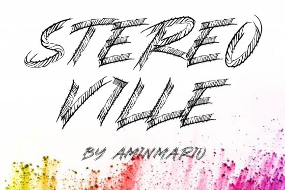 Print on Demand: Stereo Ville Display Font By aminmario