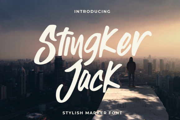 Download Free Stingker Jack Font By Candacreative Creative Fabrica for Cricut Explore, Silhouette and other cutting machines.