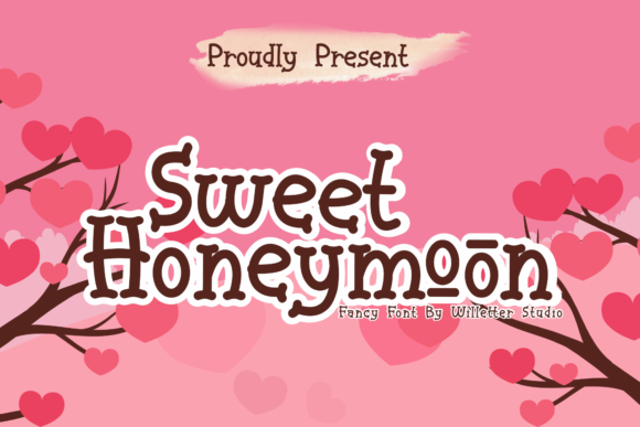 Print on Demand: Sweet Honeymoon Display Font By Will Letter