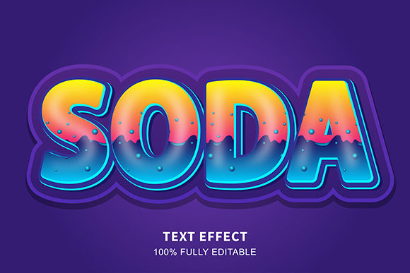 Text Effect - Soda Water Bubble Graphic Graphic Templates By Amrikhsn