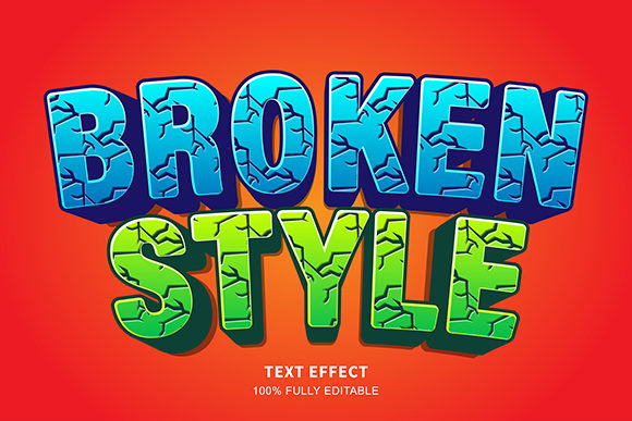 Text Effect - Broken Text Cartoon Style Graphic Graphic Templates By Amrikhsn