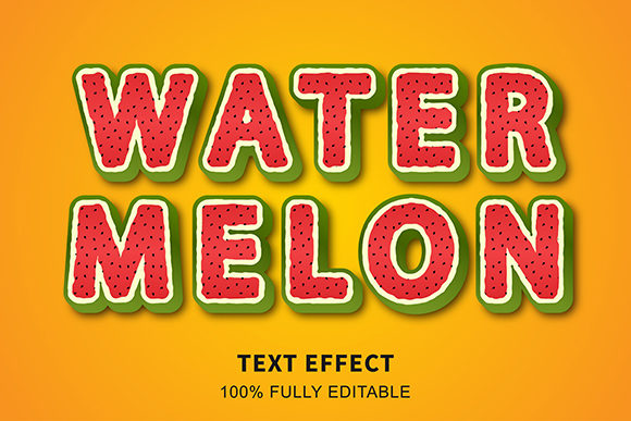 Text Effect - Water Melon Awesome Graphic Graphic Templates By Amrikhsn