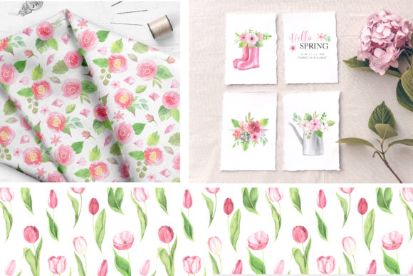 Watercolor Spring Floral Collection Graphic Illustrations By Larysa Zabrotskaya - Image 11