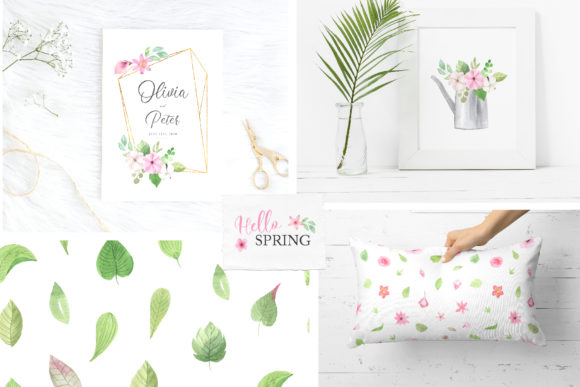 Watercolor Spring Floral Collection Graphic Illustrations By Larysa Zabrotskaya - Image 14