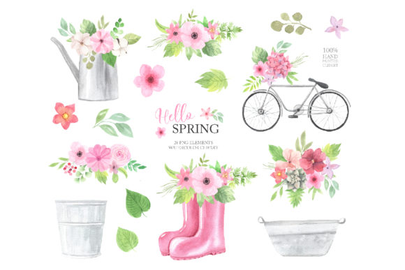 Watercolor Spring Floral Collection Graphic Illustrations By Larysa Zabrotskaya - Image 2