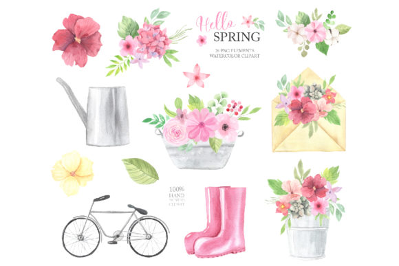 Watercolor Spring Floral Collection Graphic Illustrations By Larysa Zabrotskaya - Image 3