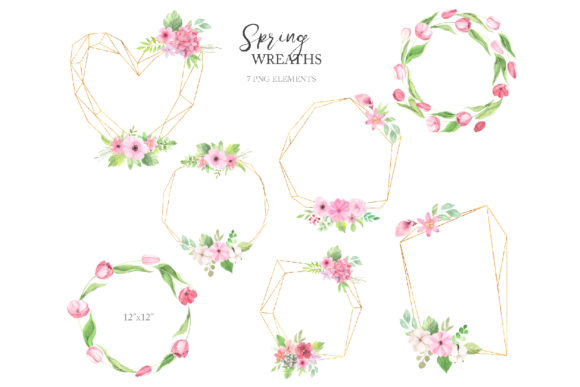 Watercolor Spring Floral Collection Graphic Illustrations By Larysa Zabrotskaya - Image 5