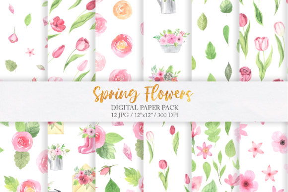 Watercolor Spring Floral Collection Graphic Illustrations By Larysa Zabrotskaya - Image 6