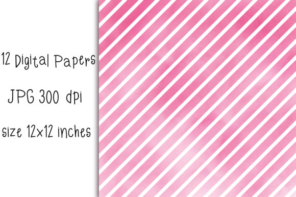 Watercolor Stripes Pastel Background Graphic Backgrounds By PinkPearly - Image 2