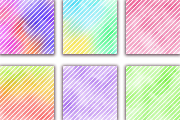 Watercolor Stripes Pastel Background Graphic Backgrounds By PinkPearly - Image 3