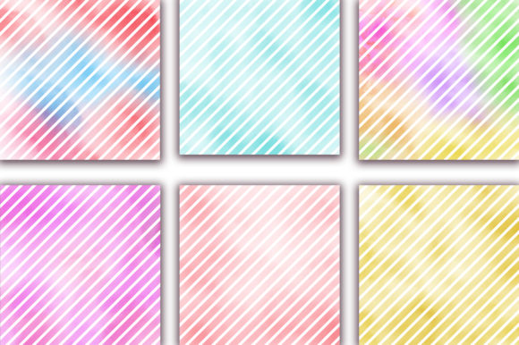 Watercolor Stripes Pastel Background Graphic Backgrounds By PinkPearly - Image 4