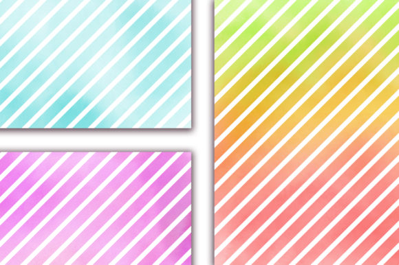 Watercolor Stripes Pastel Background Graphic Backgrounds By PinkPearly - Image 5