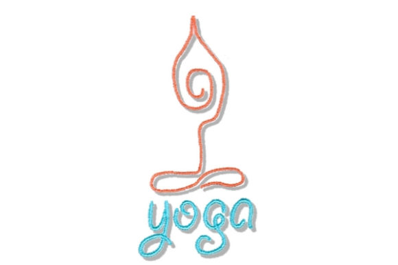 Yoga Wellness Embroidery Design By Sue O'Very Designs