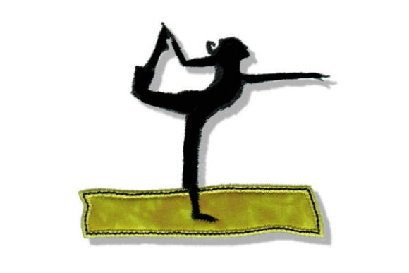 Yoga Girl Wellness Embroidery Design By Sue O'Very Designs