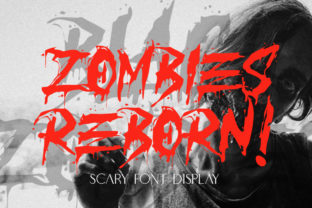 Download Free Zombies Reborn Font By Typelinestudio Creative Fabrica for Cricut Explore, Silhouette and other cutting machines.