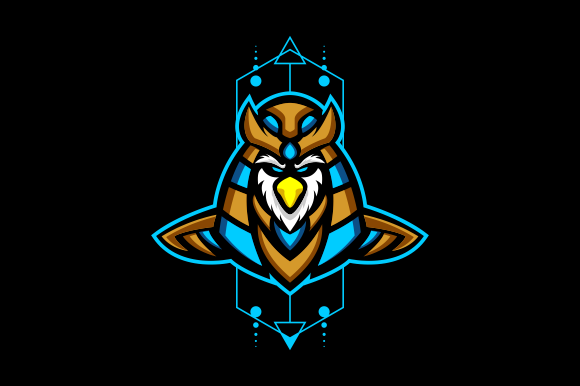 Download Free Horus Head Mascot Logo Graphic By Depadepi Creative Fabrica for Cricut Explore, Silhouette and other cutting machines.