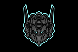 Download Free Robot Head Gaming Mascot Or Avatar Graphic By Depadepi Creative Fabrica for Cricut Explore, Silhouette and other cutting machines.