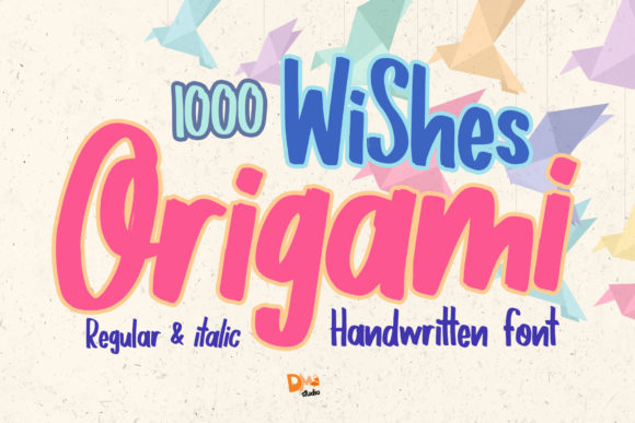 Print on Demand: 1000 Wishes Origami Script & Handwritten Font By dmletter31