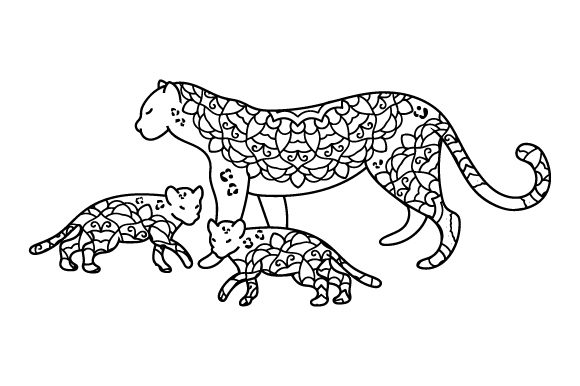 Download Free Mom And Baby Leopards Svg Cut File By Creative Fabrica Crafts Creative Fabrica for Cricut Explore, Silhouette and other cutting machines.