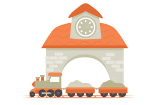 Train Station Travel Craft Cut File By Creative Fabrica Crafts