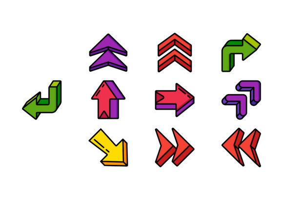 3d Arrows Graphic Icons By hansganspbk2