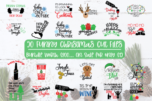 50 Funny Christmas Files Grafik Von Sheryl Holst Creative Fabrica