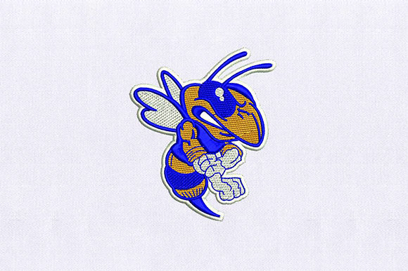 Angry Honey Bee Bugs & Insects Embroidery Design By DigitEMB