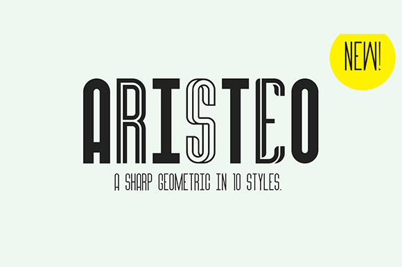 Download Free Aristeo Font By Mysticaltype Creative Fabrica for Cricut Explore, Silhouette and other cutting machines.