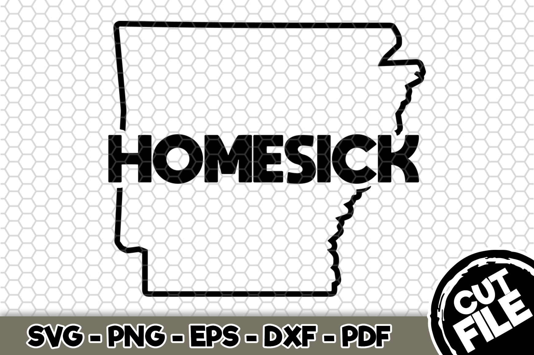 Download Free Arkansas Homesick Graphic By Svgexpress Creative Fabrica for Cricut Explore, Silhouette and other cutting machines.