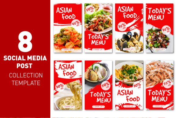 Asian Food History Social Media Culinary Graphic Web Templates By rizsl.grandokz