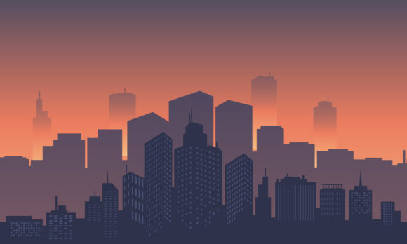 Background of City with Buildings Tall Graphic Backgrounds By cityvector91