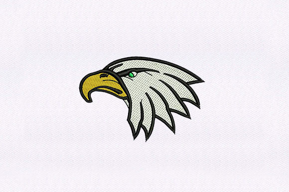 Bald Eagle Face Birds Embroidery Design By DigitEMB