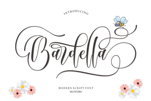 Print on Demand: Bardella Script & Handwritten Font By IM Studio