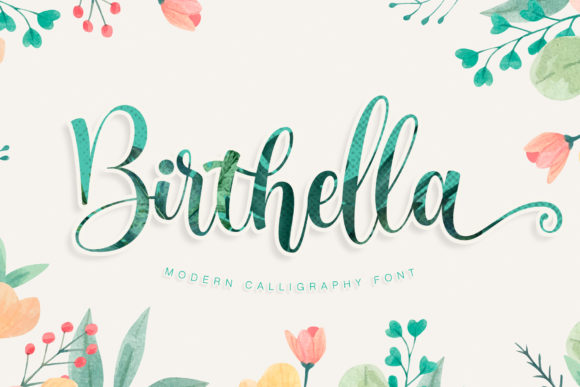 Print on Demand: Birthella Script & Handwritten Font By RochArt