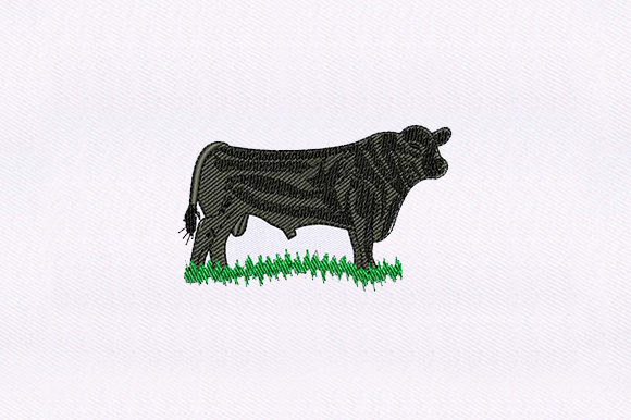 Black Buffalo Farm Animals Embroidery Design By DigitEMB